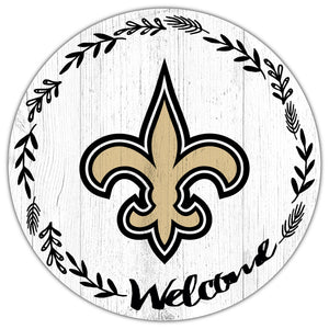 New Orleans Saints Welcome Circle Sign