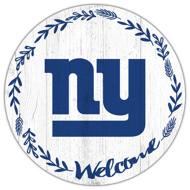New York Giants Welcome Circle Sign
