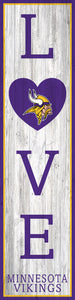 "Minnesota Vikings LOVE Door Leaner - 12""x48"""
