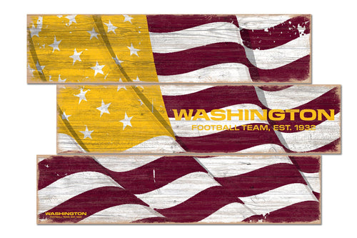 Washington Football Team Flag Plank Wood Sign