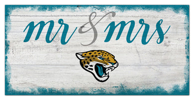 Jacksonville Jaguars Mr. & Mrs. Script Wood Sign - 6