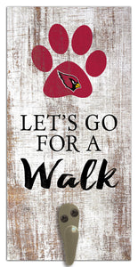 "Arizona Cardinals Leash Holder Sign 6""x12"""