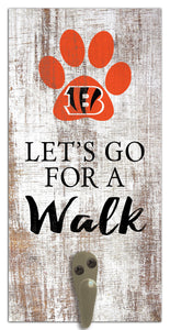 "Cincinnati Bengals Leash Holder Sign 6""x12"""