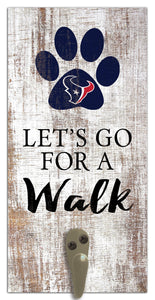"Houston Texans Leash Holder Sign 6""x12"""