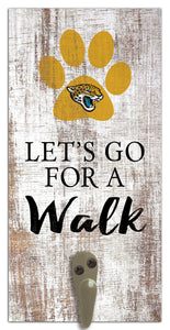 "Jacksonville Jaguars Leash Holder Sign 6""x12"""