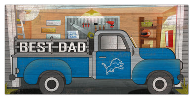 Detroit Lions Best Dad Truck Sign - 6