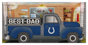 "Indianapolis Colts Best Dad Truck Sign - 6""x12"""