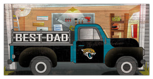 "Jacksonville Jaguars Best Dad Truck Sign - 6""x12"""