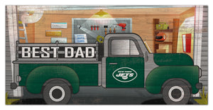 "New York Jets Best Dad Truck Sign - 6""x12"""