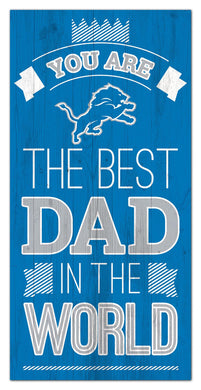 Detroit Lions Best Dad Wood Sign - 6