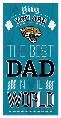 Jacksonville Jaguars Best Dad Wood Sign - 6