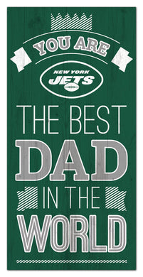 New York Jets Best Dad Wood Sign - 6