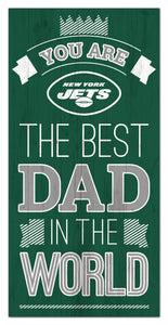 "New York Jets Best Dad Wood Sign - 6""x12"""