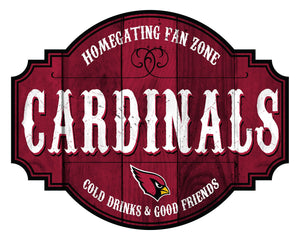 Arizona Cardinals Homegating Wood Tavern Sign -24""
