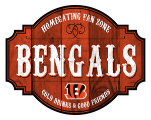 Cincinnati Bengals Homegating Wood Tavern Sign -12""