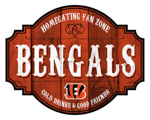 Cincinnati Bengals Homegating Wood Tavern Sign -24""