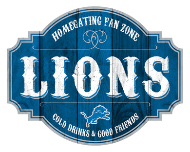 Detroit Lions Homegating Wood Tavern Sign -12
