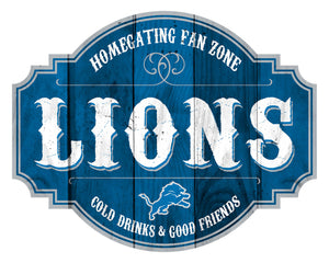 Detroit Lions Homegating Wood Tavern Sign -12""