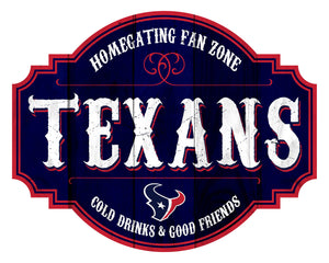 Houston Texans Homegating Wood Tavern Sign -12""