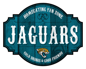 Jacksonville Jaguars Homegating Wood Tavern Sign -12""