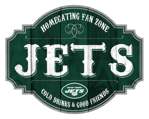 New York Jets Homegating Wood Tavern Sign -24""