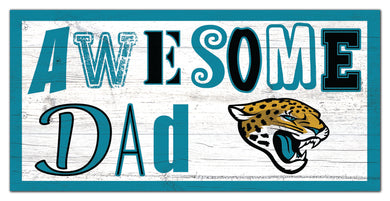Jacksonville Jaguars Awesome Dad Wood Sign - 6