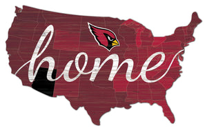Arizona Cardinals USA Shape Home Cutout