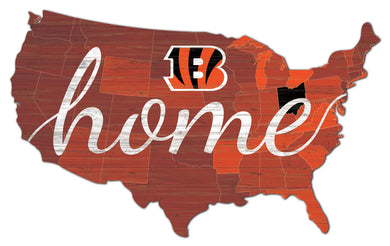 Cincinnati Bengals USA Shape Home Cutout
