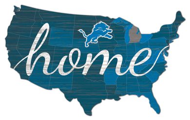 Detroit Lions USA Shape Home Cutout