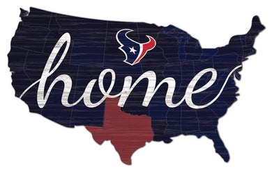 Houston Texans USA Shape Home Cutout