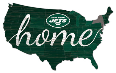 New York Jets USA Shape Home Cutout