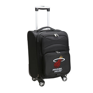 Miami Heat Luggage Carry-On 21in Spinner Softside Nylon