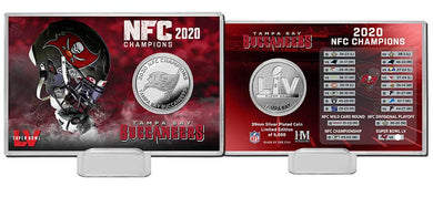 Tampa Bay Buccaneers 2020 NFC Champions Silver Coin Card