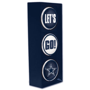 dallas cowboys let;s go light