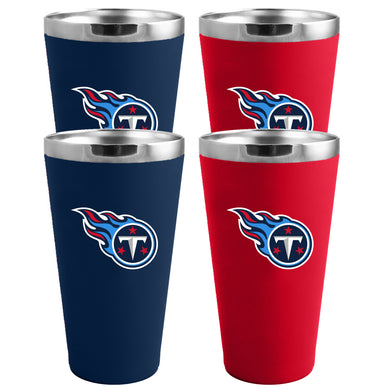 Tennessee Titans 4-Pack Matte Color Stainless Steel Pint Glass Set