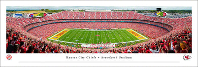 Kansas City Chiefs Arrowhead Stadium Panoramic Picture, Kansas City Chiefs Arrowhead Stadium 100th NFL Season Panoramic Picture