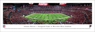 Atlanta Falcons Mercedes Benz Stadium Inaugural Game Panoramic Picture