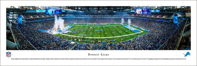 Detroit Lions Ford Field 50 Yard Line Panoramic Picture