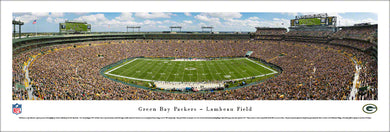 Green Bay Packers Lambeau Field 50 Yard Line Panoramic Picture