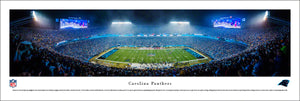 Carolina Panthers Bank of America Stadium Night Game Panoramic Picture
