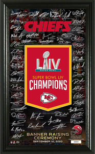 Kansas City Chiefs Super Bowl 54 Champions Banner Raising Signature Photo