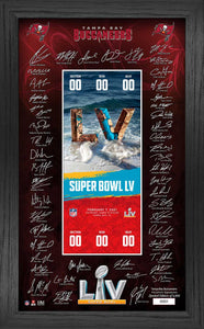 Tampa Bay Buccaneers Super Bowl 55 Signature Ticket Frame
