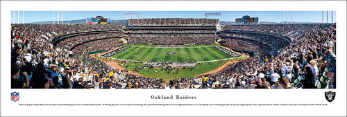 Oakland Raiders O.CO Coliseum 50 Yard Line Panoramic Picture