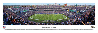 Baltimore Ravens M&T Bank Stadium 50 Yard Line Panoramic Picture