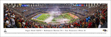 Baltimore Ravens Super Bowl 47 Champions Panoramic Picture