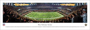 New Orleans Saints Mercedes-Benz Superdome 50 Yard Line Panoramic Picture