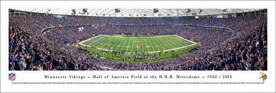 Minnesota Vikings Metrodome Last Game Panoramic Picture