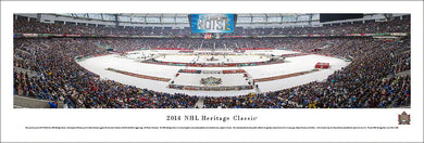 NHL fan gear unframed panorama 2014 Heritage Classic Senators vs. Canucks - Sports Fanz