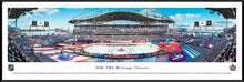 NHL fan gear black framed panorama 2016 Heritage Classic Oilers vs. Jets - Sports Fanz