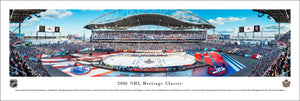 NHL fan gear unframed panorama 2016 Heritage Classic Oilers vs. Jets - Sports Fanz